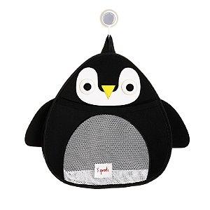 Organizador de Banho Pinguim Preto - 3 Sprouts