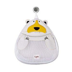 Organizador de Banho Urso Branco - 3 Sprouts
