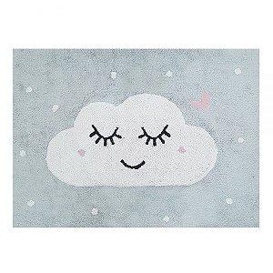 Tapete Cloud Cinza Rosa/Branco - Nina & Co.