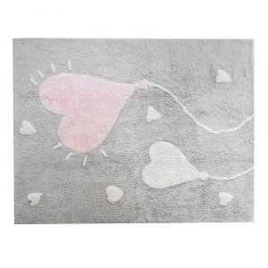 Tapete Love Cinza Rosa e Branco - Nina & Co.