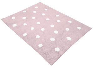 Tapete Dots Rosa e Branco - Nina & Co.