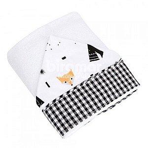 Toalha Felpuda Revestida Lolli Estampa - Fox Preto Biramar Baby