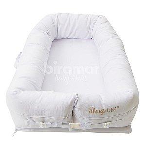 Bercinho Portátil Ninho Sleep Um Piquet Branco - Biramar Baby