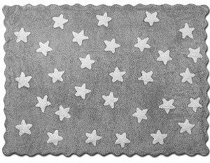 Tapete Mini Stars Cinza e Branco - Nina & Co.