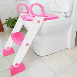 Redutor de Assento Sanitário com Degrau Rosa - Clingo