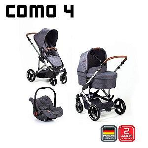 Carrinho de Bebê COMO 4 Bebê Conforto Asphalt - ABC Design