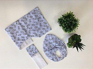 Kit Fofura 3 Pç Azul - Minha Casa Baby