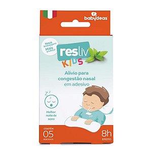 Adesivo para Alívio e Conforto Nasal Resliv 5 Unidades - Babydeas