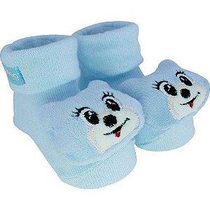 Pantufa com chocalho Gato Azul - Clingo