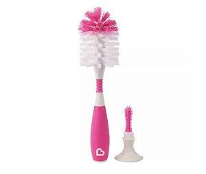 Escova de Mamadeira Com Ventosa Rosa - Munchkin