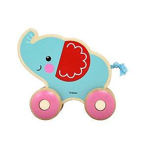 Brinquedo de Atividades Passeio Com Elefante Blue Madeira - Fisher Price