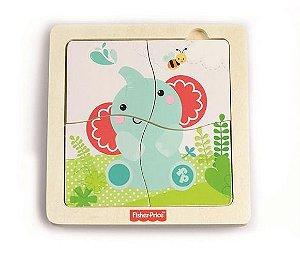Brinquedo de Atividades Quebra Cabeça Banho Com Elefante - Fisher Price