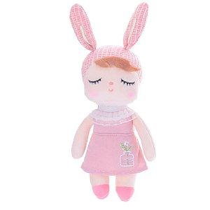 Boneca Mini Doll Ângela Jardineira Salmão - Metoo