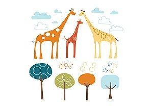 Adesivo De Parede Safari De Girafas - Skip Hop