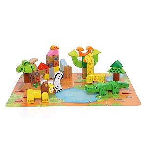 Brinquedo de Atividades Floresta em Blocos Tauno 80 Peças - Dican