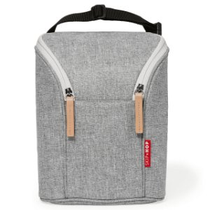 Bolsa Térmica para mamadeira Double Bottle Bag (Grab & Go) Grey Melange - Skip Hop