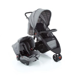 Travel System Jetty DUO Cinza Mescla - Cosco