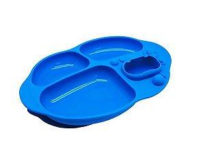 Prato com Divisória e Sucção Compartimentos Hipopótamo - Marcus & Marcus
