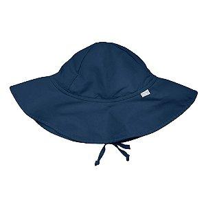 Chapéu de Banho Azul Marinho com proteção solar FPS 50+ - Iplay