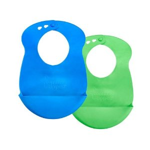 Babadores Roll N'Go Azul Marinho e Verde - Tommee Tippee