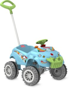 Carrinho Baby Cross Passeio & Pedal Azul - Bandeirante