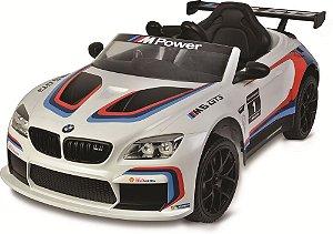 Carro Elétrico BMW M6 GT3 Branco Elétrico - Bandeirante