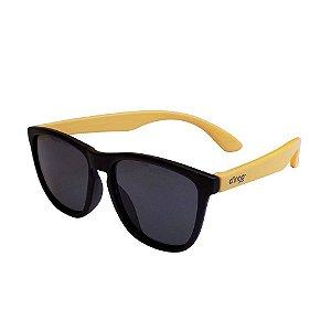 Óculos Escuros Preto e Amarelo - Clingo