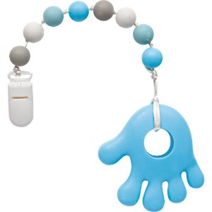 Mordedor em Silicone com Prendedor Azul - Buba