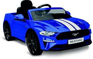 Carro Elétrico Ford Mustang Azul 12V - Bandeirante