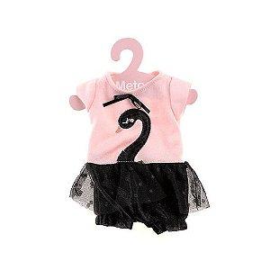 Roupinha Boneca Metoo Fashion Macacão Cisne Negro