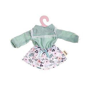 Roupinha Boneca Metoo Fashion Saia e Blusa Floral
