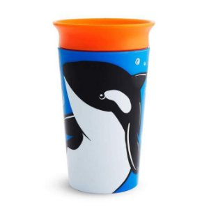 Copo Grande 360 Wild Baleia Orca - Munchkin