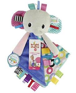 Naninha Elefante Cuddles Tags Blankie - Bright Starts
