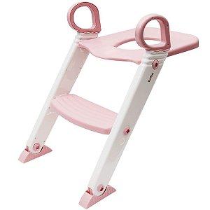 Assento Redutor com Escada Penico Rosa - Buba