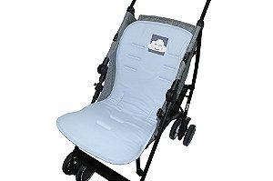 Capa para Carrinho Suedine Nuvem Azul - D'Bella for Baby