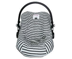 Capa para Bebê Conforto Ursa Chevron Cinza - D'Bella for Baby