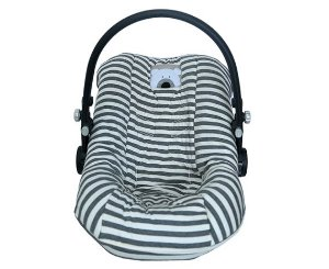 Capa para Bebê Conforto Urso Chevron Cinza - D'Bella for Baby
