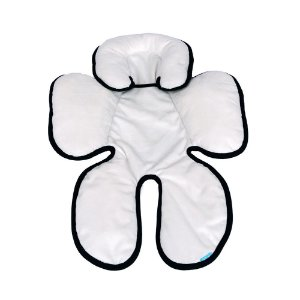 Almofada para Bebê Conforto Branco Preto - Clingo