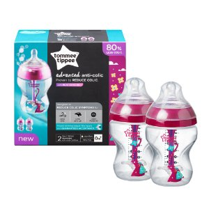 Kit 2 Mamadeira Advanced Anti-Colic Rosa - Tommee Tippee