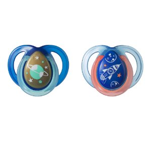 Kit 2 Chupetas Night Time Azul 0-6m - Tommee Tippee