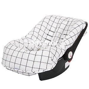 Capa para Bebê Conforto Ajustável Boston Preto - Biramar
