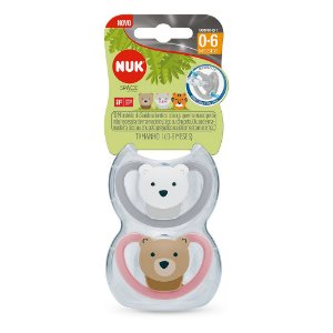 Kit com 2 Chupetas Space Rosa 0-6m - NUK