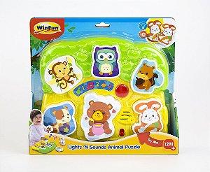 Brinquedo Encaixe os Bichinhos com Som e Luz - WinFun