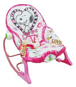 Cadeira de Balanço Snoopy Rosa - Pura Diversão