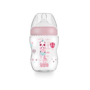 Mamadeira First Moments 2m+ Rosa Algodão - Fisher Price
