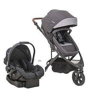 Carrinho de Bebê Travel System Trek Melange Graphite - Kiddo