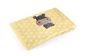 Manta Amarelo Hipopótamo - Baby Pil