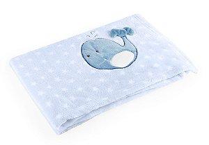 Manta Azul Baleia - Baby Pil