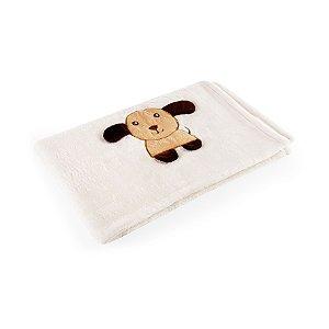 Manta Bege Cachorro - Baby Pil