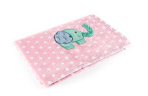 Manta Rosa Elefante - Baby Pil